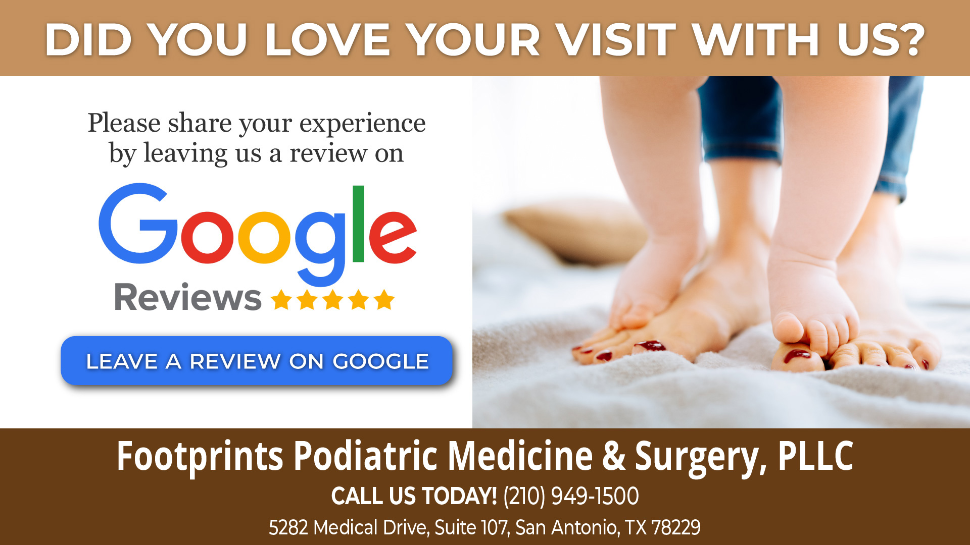Review Us | Footprints Podiatric Medicine & Surgery, PLLC